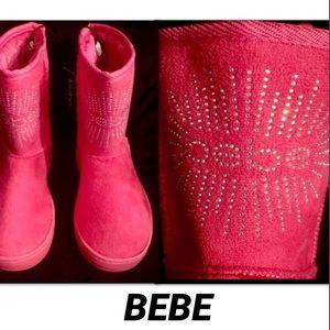 BEBE GIRLS  RHINESTONE LOGO BOOT